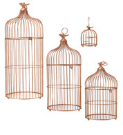 METAL BIRD CAGES - COPPER - Copper
