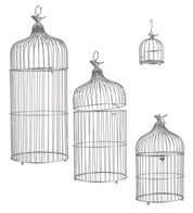 METAL BIRD CAGES - SILVER - Silver