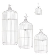 METAL BIRD CAGES - WHITE - Warm White