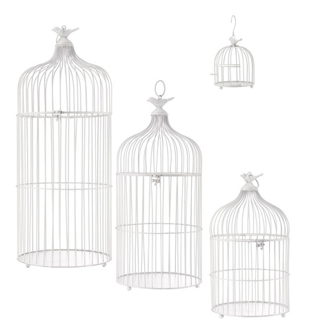 METAL BIRD CAGES - WHITE White