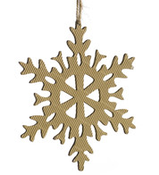 CORRUGATED SNOWFLAKE - 6 POINT - Natural