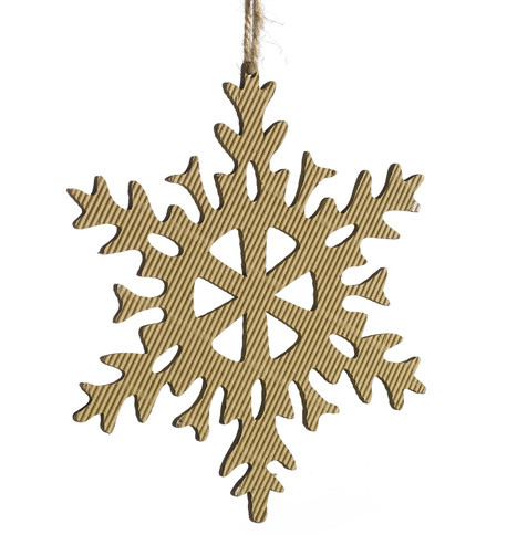 CORRUGATED SNOWFLAKE - 6 POINT Natural