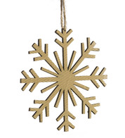 CORRUGATED SNOWFLAKE - 8 POINT - Natural