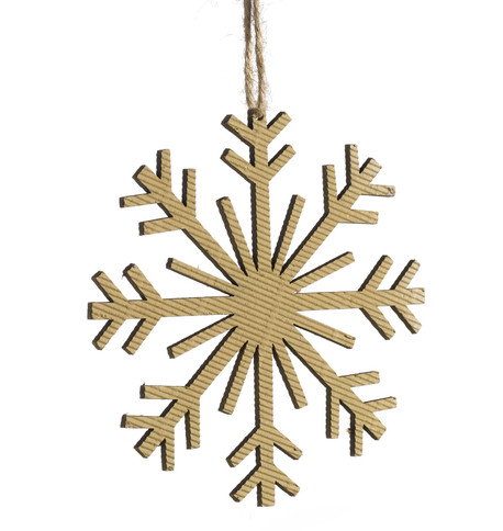 CORRUGATED SNOWFLAKE - 8 POINT  Natural