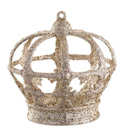 CHAMPAGNE GLITTERED CROWN - Gold