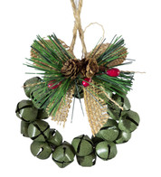 METAL BELL WREATH - GREEN - Green