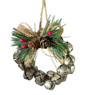 METAL BELL WREATH - GOLD - Gold