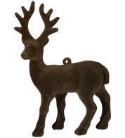 FLOCKED REINDEER - BROWN - Brown