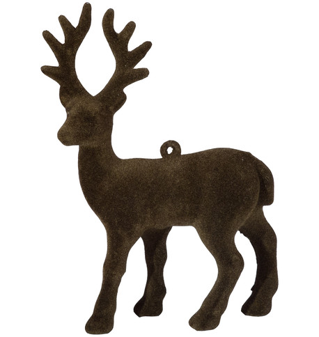 FLOCKED REINDEER - BROWN Brown