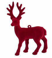 FLOCKED REINDEER - RED - Red