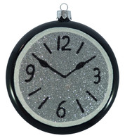 GLITTERED CLOCKS - SILVER - Silver