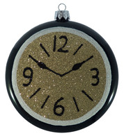 GLITTERED CLOCKS - GOLD - Gold