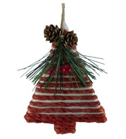 YARN CORDED TREE - Red and White