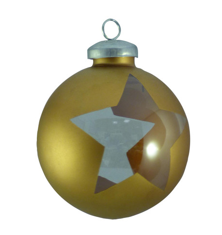 CUT OUT WRAP STAR BAUBLES - Copper Copper