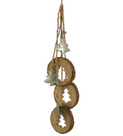 wood tree hanger - Natural
