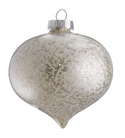 STIPPLED SILVER GLASS ONION - Silver
