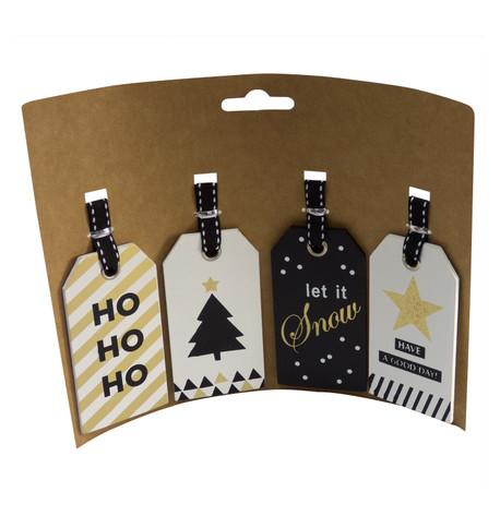 gift tag set - BLACK & GOLD Black & Gold