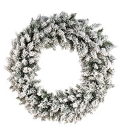 Flocked NORWAY SPRUCE WREATH - White