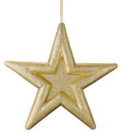 GLITTERED EMBOSSED STAR - GOLD - Gold