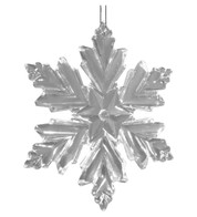 Crystal Clear snowflake - Clear