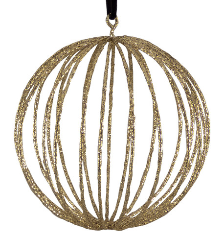 Glitter wire ball - gold Gold