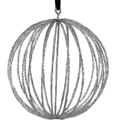 Glitter wire ball - silver Silver