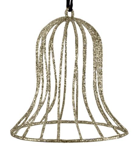 Glitter wire bell - champagne Champagne
