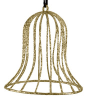 Glitter wire bell - gold - Gold