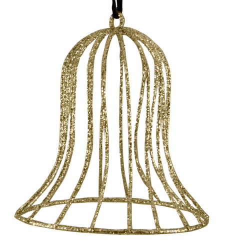 Glitter wire bell - gold Gold