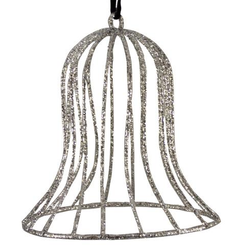 Glitter wire bell - silver Silver