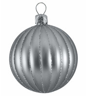 RIBBED BAUBLES - silver matt - Silver