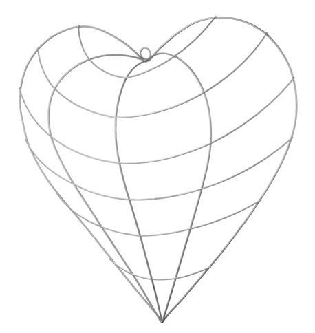 Wire heart frame Silver