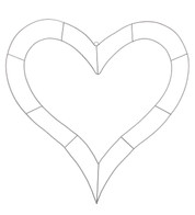 Wire heart outline frame - Silver