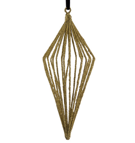 Glitter wire drop - gold Gold