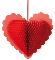 Paper fold out hearts - Red - Red