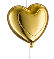 Metallic heart balloons - gold - Gold