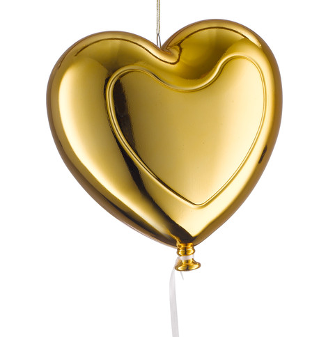 Metallic heart balloons - gold Gold