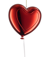 Metallic heart balloons - Red - Red