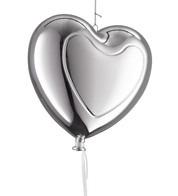 Metallic heart balloons - Silver - Blue