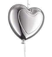 Metallic heart balloons - Silver - Silver