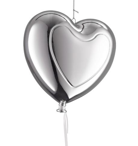 Metallic heart balloons - Silver Silver