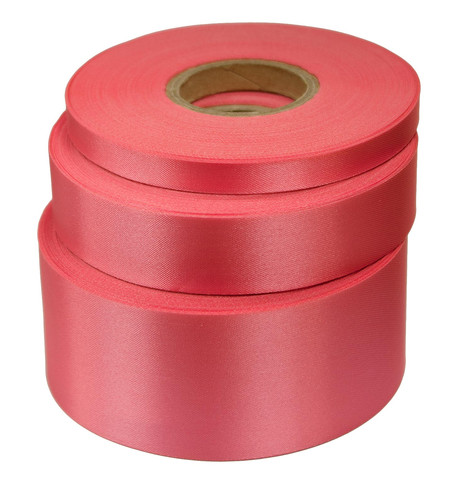 Cerise Satin Acetate Ribbon Cerise