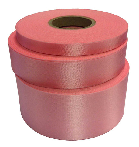 SUGAR PINK Satin Acetate Ribbon Sugar Pink