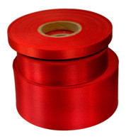 Cardinal Red Satin Acetate Ribbon - Red