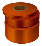 Tangerine Satin Acetate Ribbon - Orange