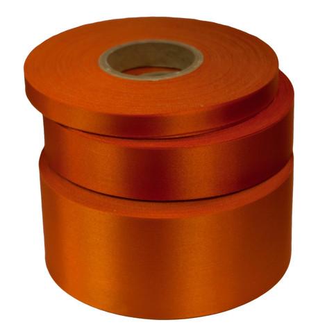 Tangerine Satin Acetate Ribbon Tangerine