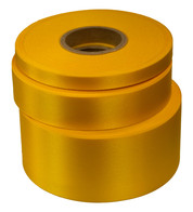 Yellow Satin Acetate Ribbon - Yellow