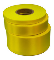 Fluoro Yellow Satin Acetate Ribbon - Yellow