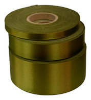 Khaki Satin Acetate Ribbon - Green