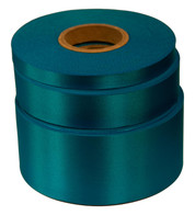 Aqua Satin Acetate Ribbon - Green